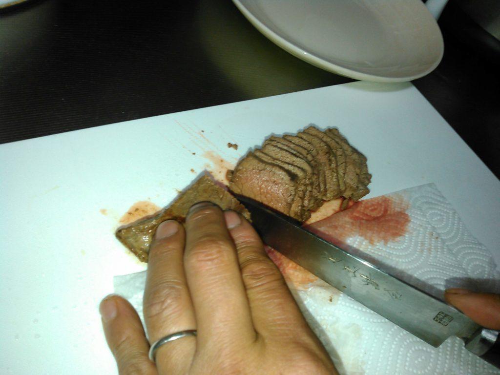 シカ肉のタタキ
