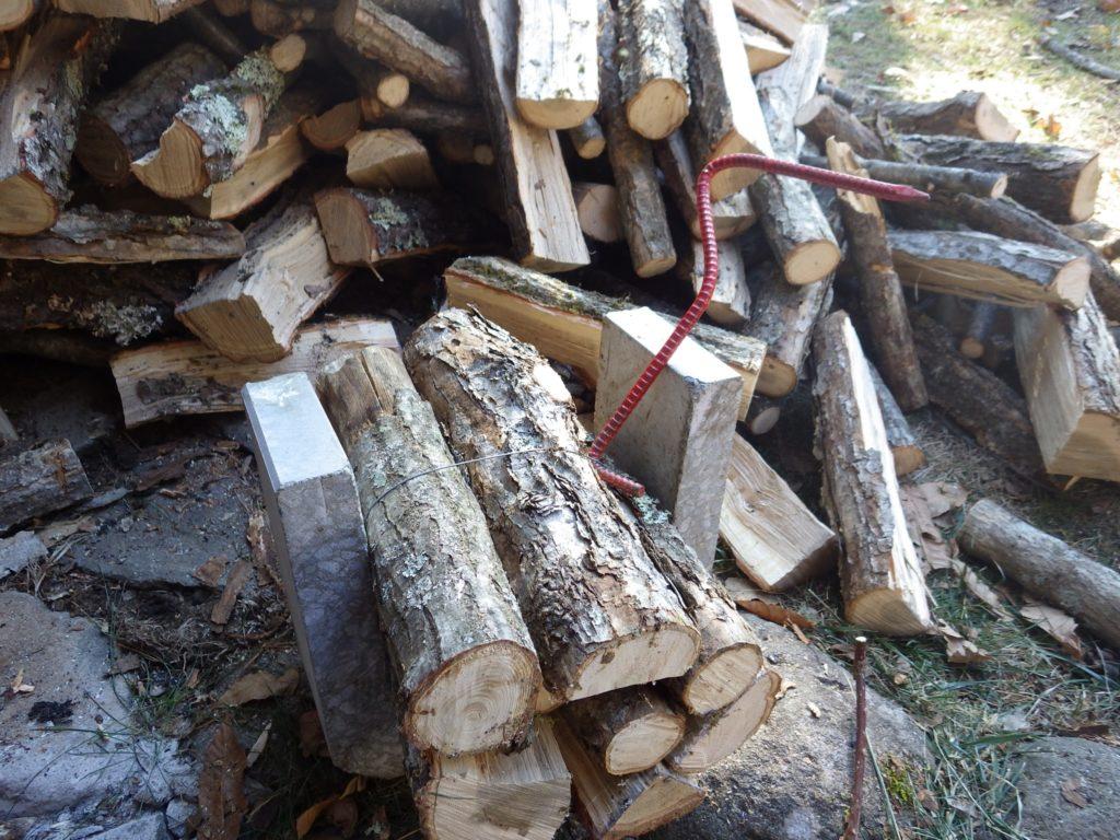 薪のタガ詰め終わり