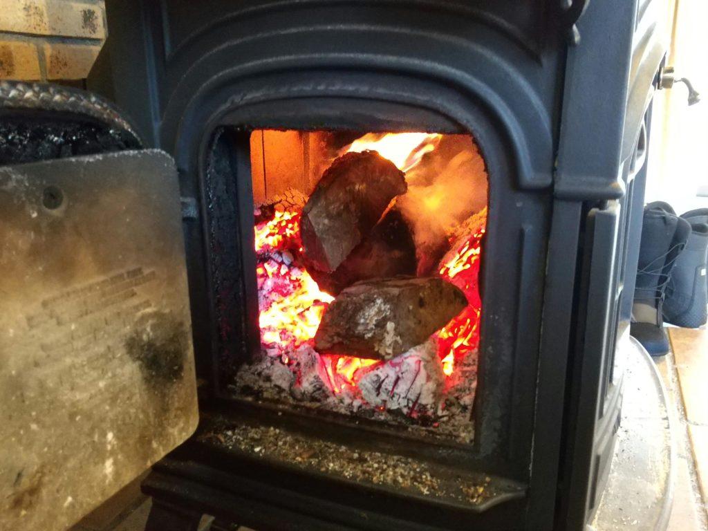 コロ薪の燃焼