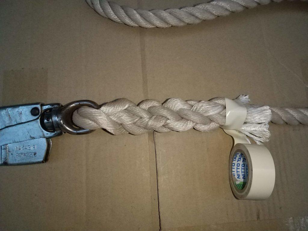 ロープ編み完成