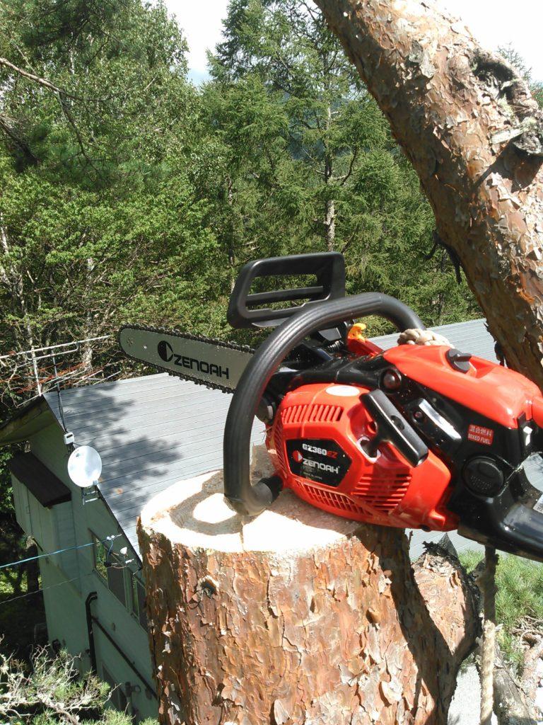 特殊伐採で使うゼノアGZ360EZ