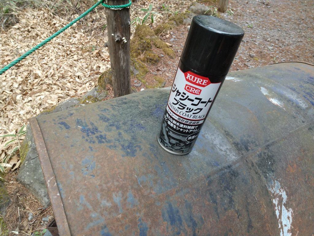 ドラム缶の塗装