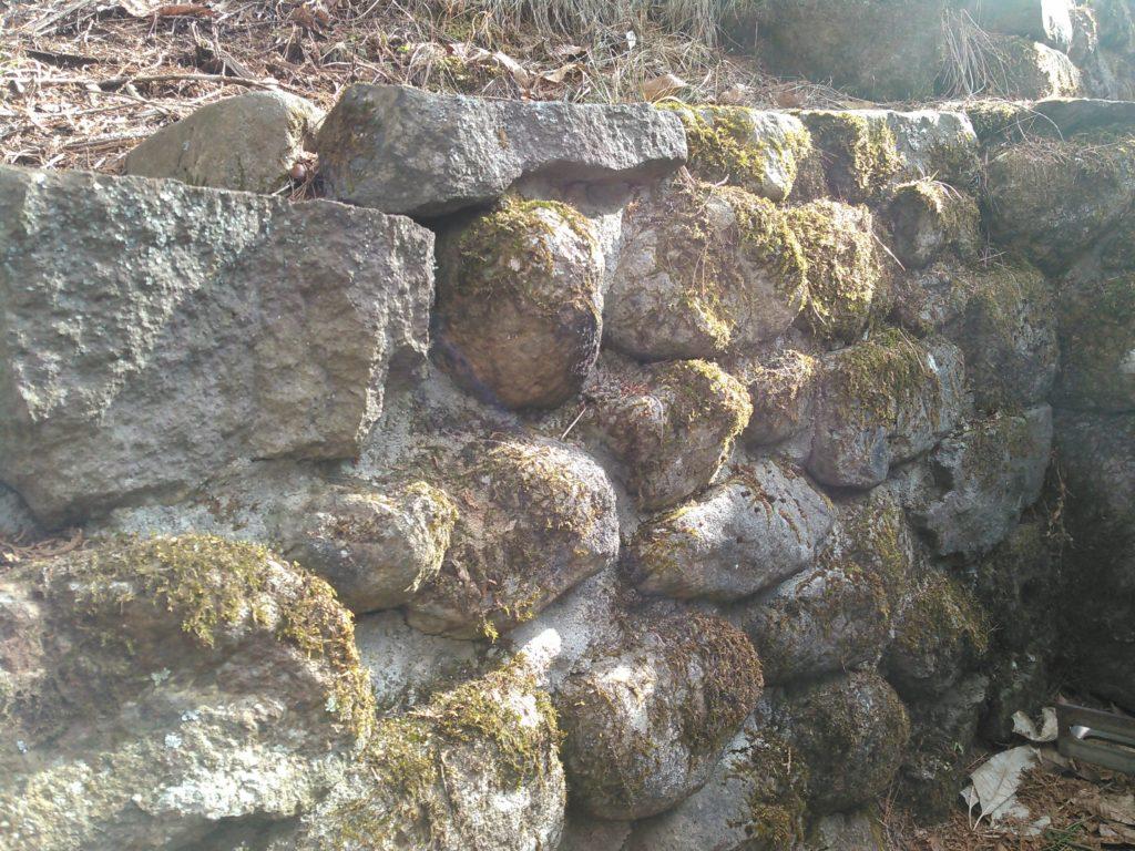 石積み工の土留め