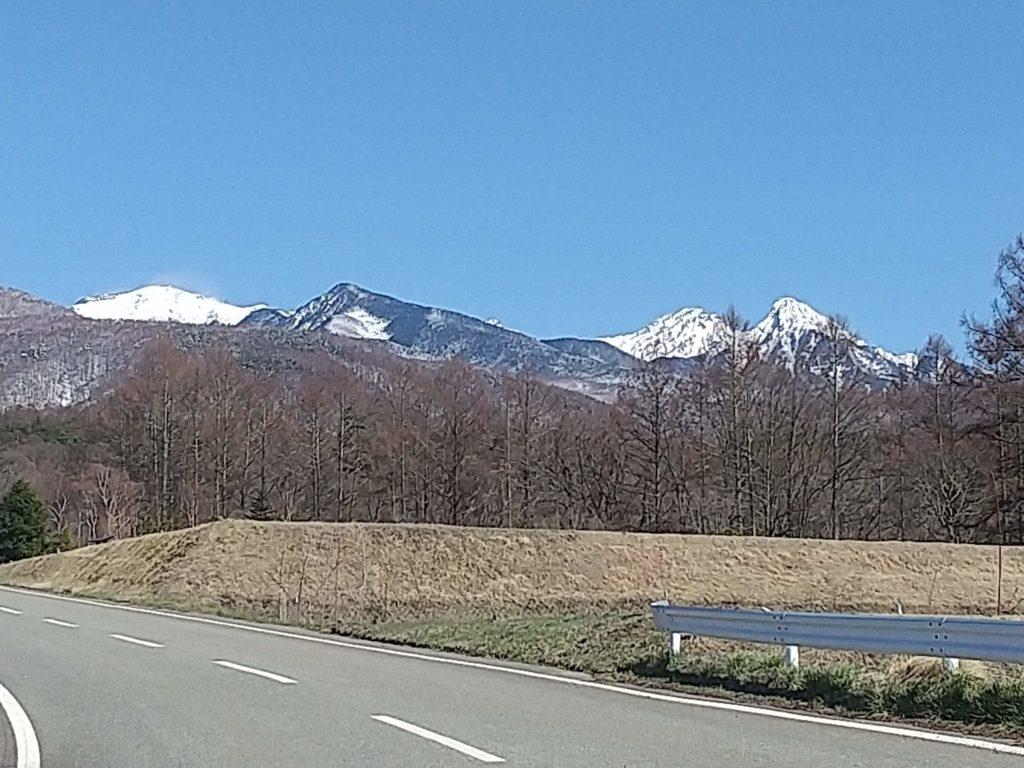 スマホで赤岳を撮影