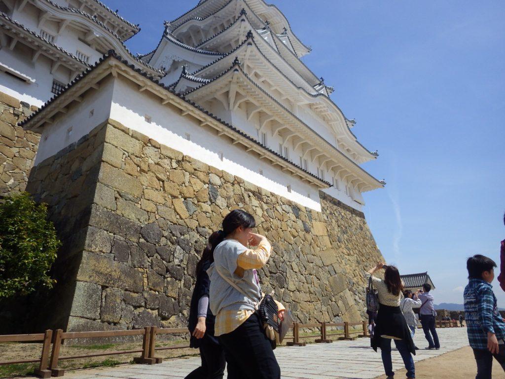 姫路城の石積み