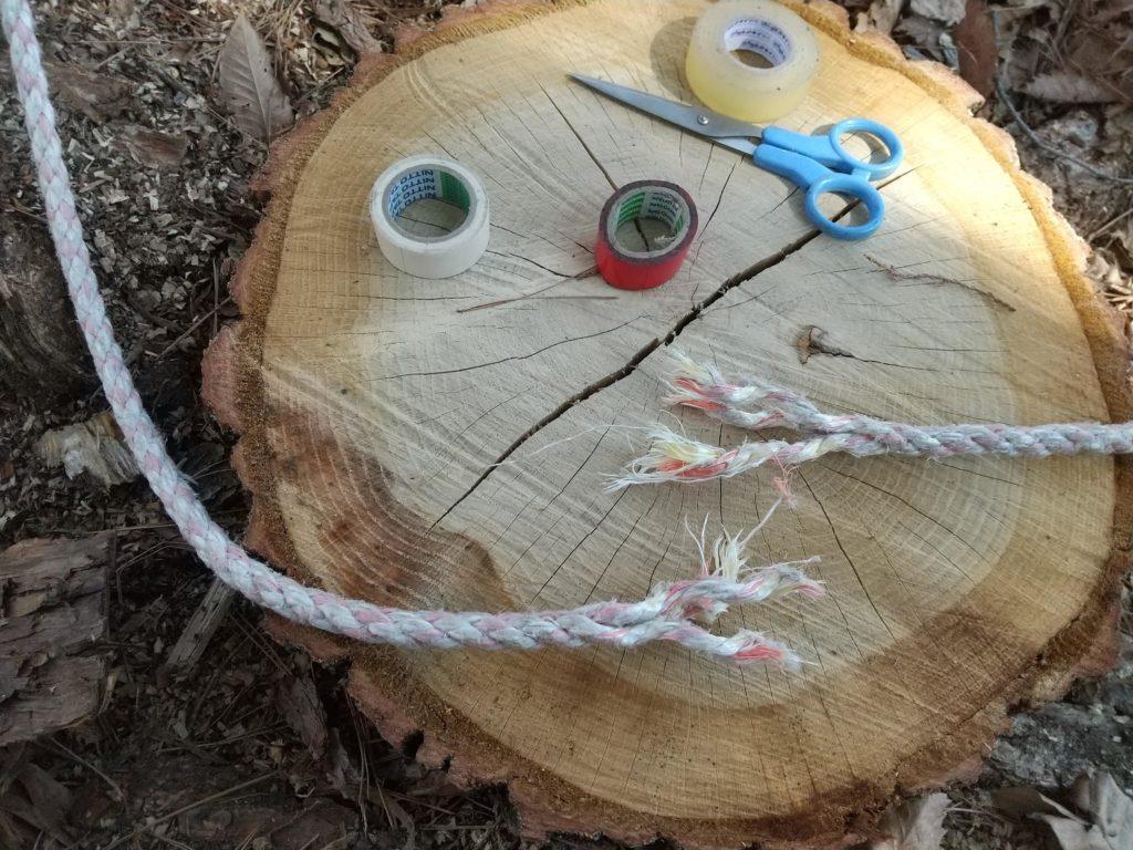ロープを編む