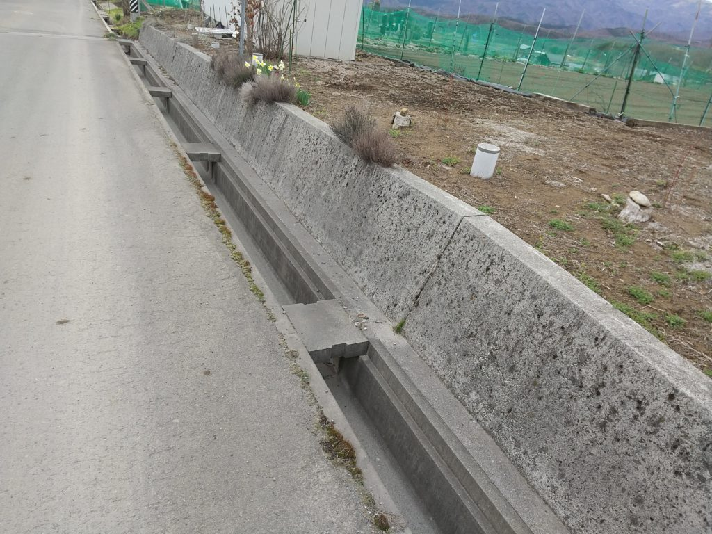 コンクリートの擁壁
