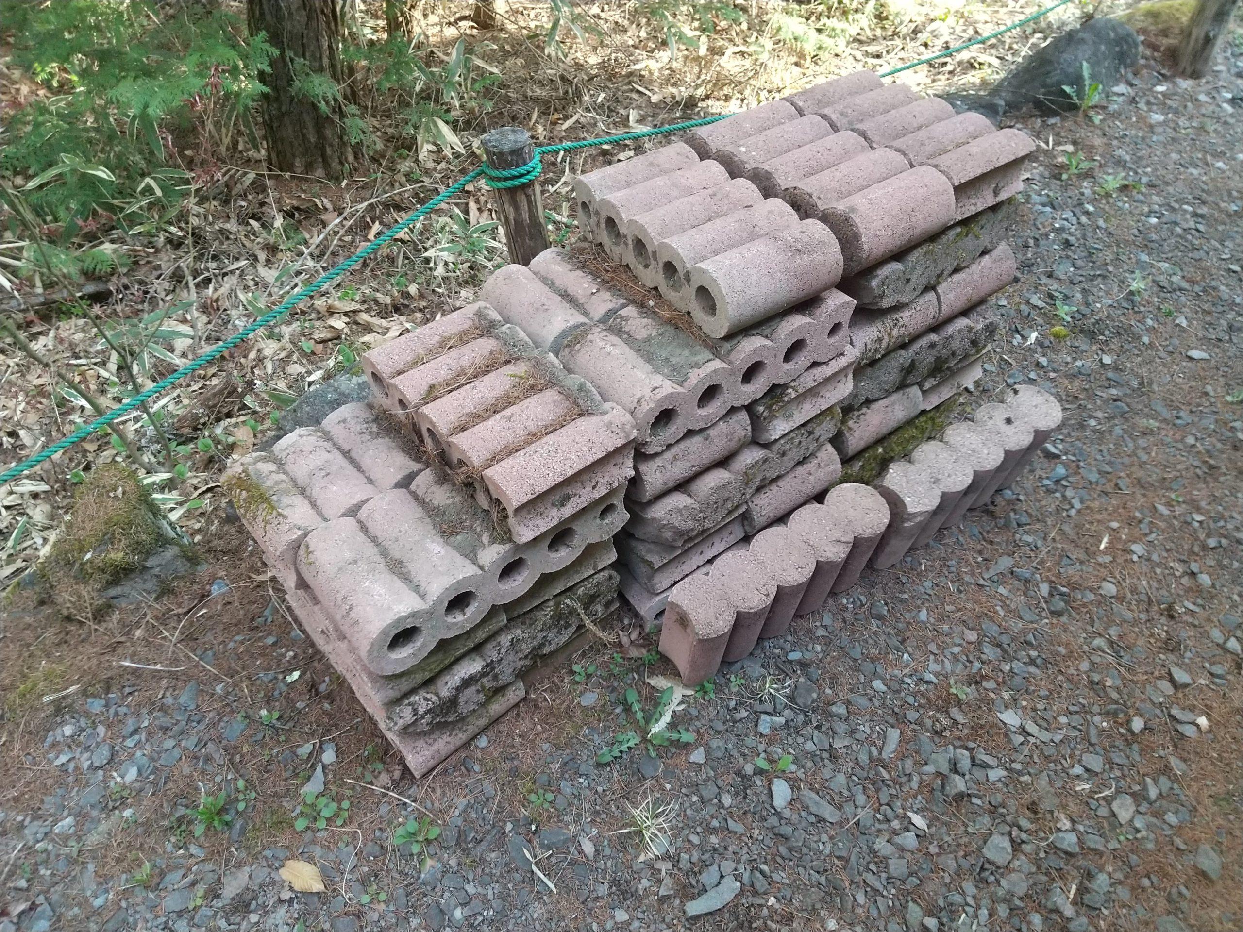 撤去したあった花壇ブロック