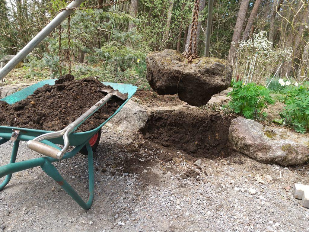 DIYで石の移動