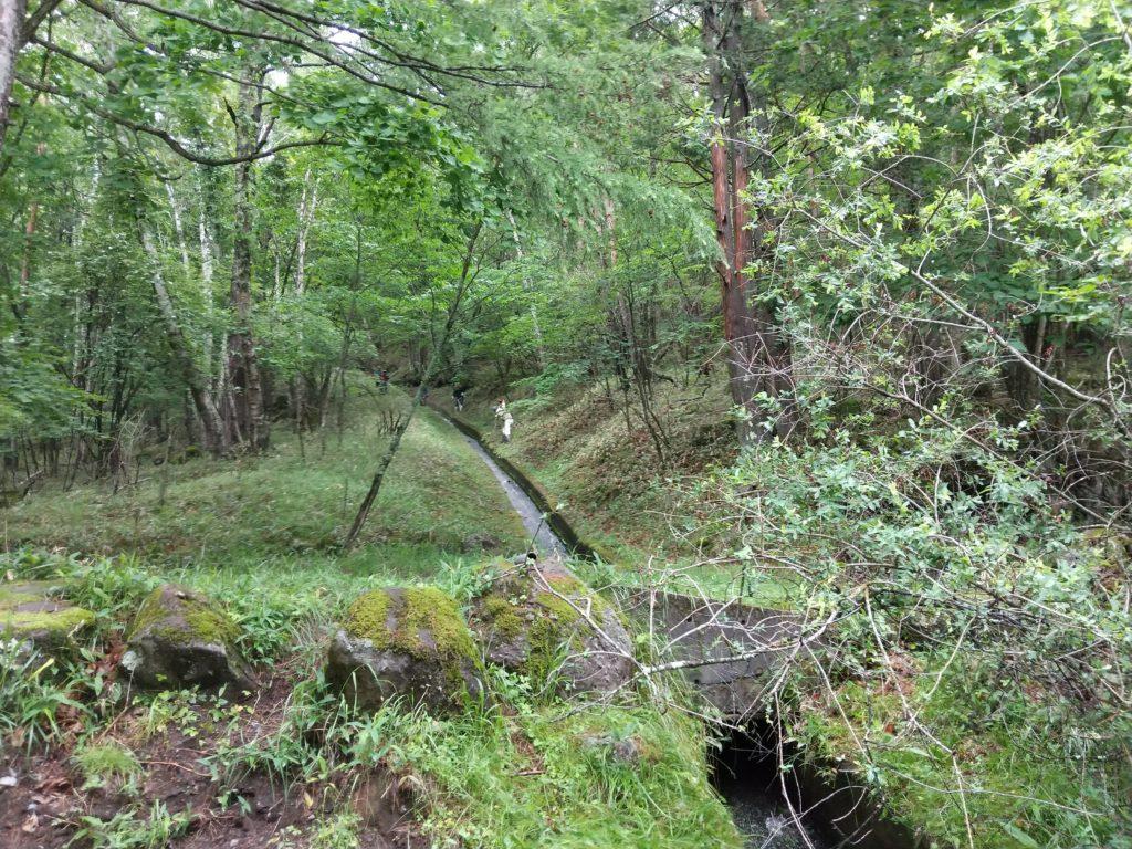 御射鹿池に続く水路