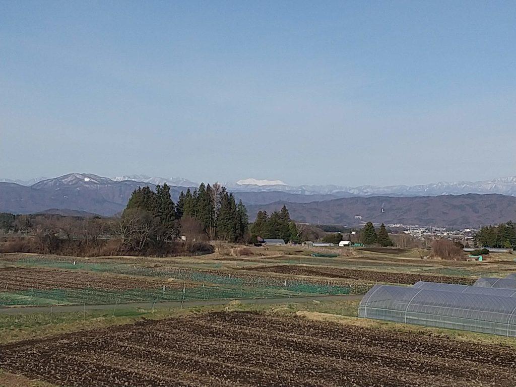 笹原区から御岳山を望む