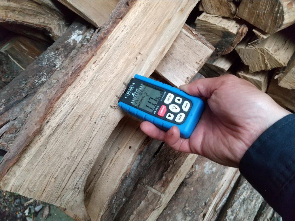 シンワデジタル水分計で水分管理