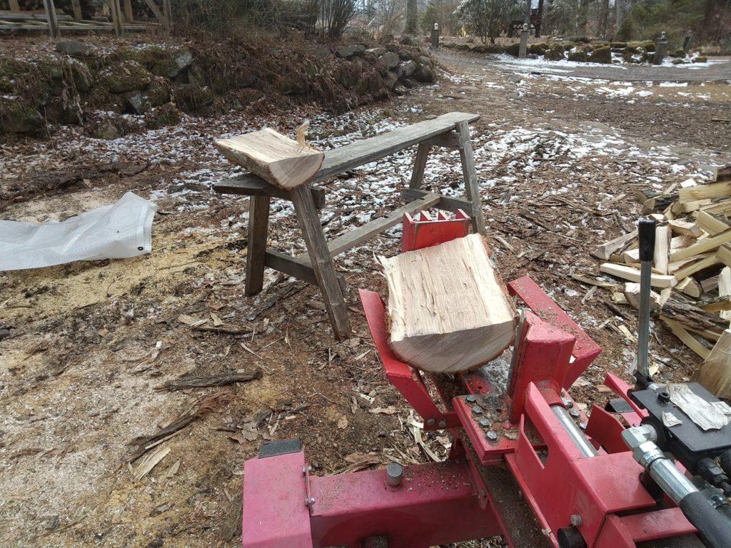 薪割り作業台