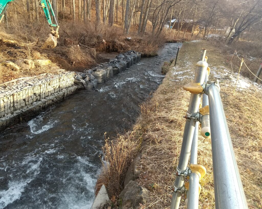 水害の復旧工事