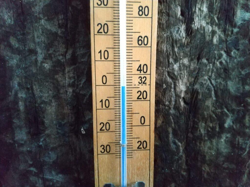 気温0℃!