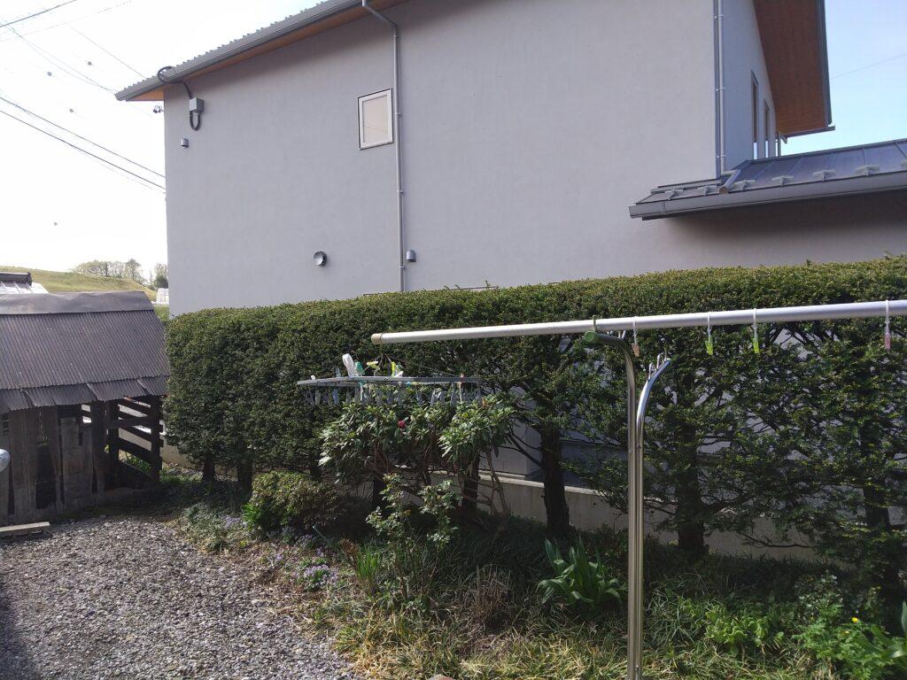 作業前の垣根