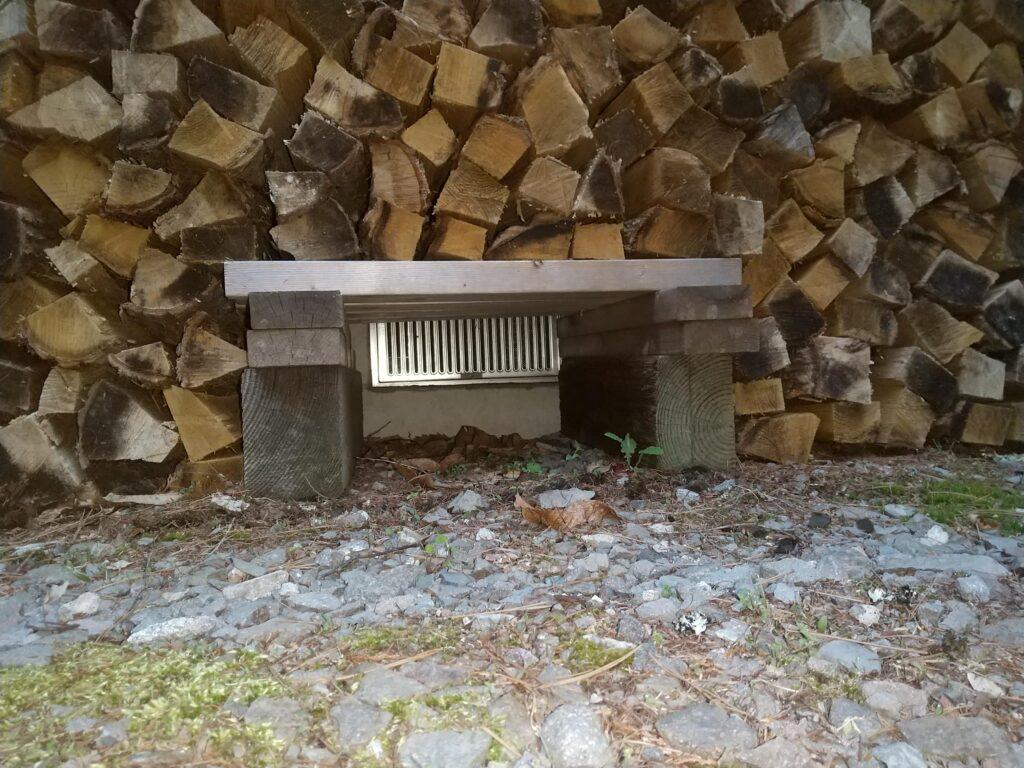 薪を積んだ部分