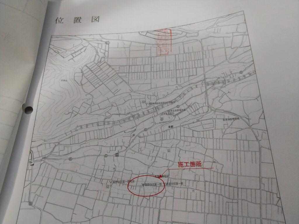 位置を示した地図