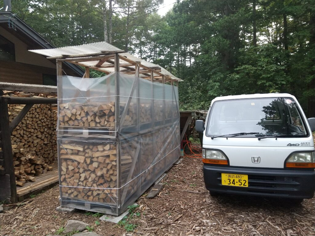薪の台風対策