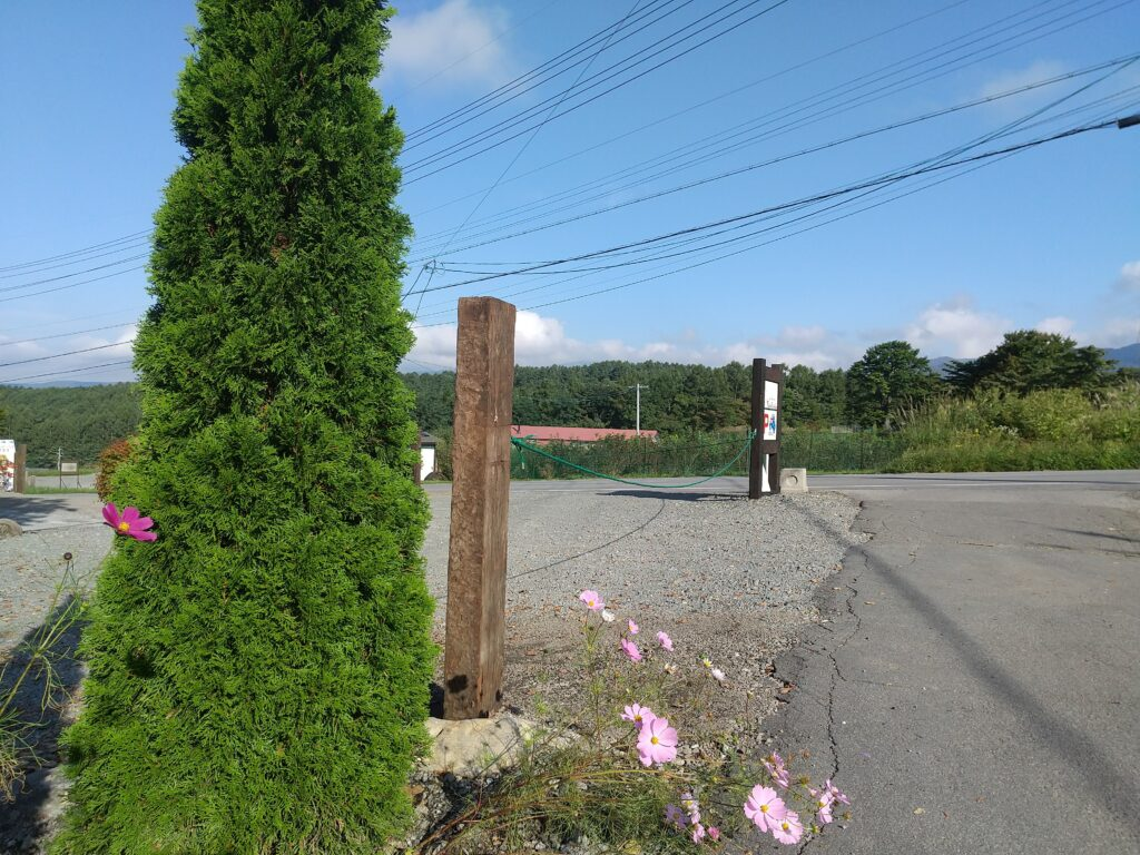 自宅の門柱